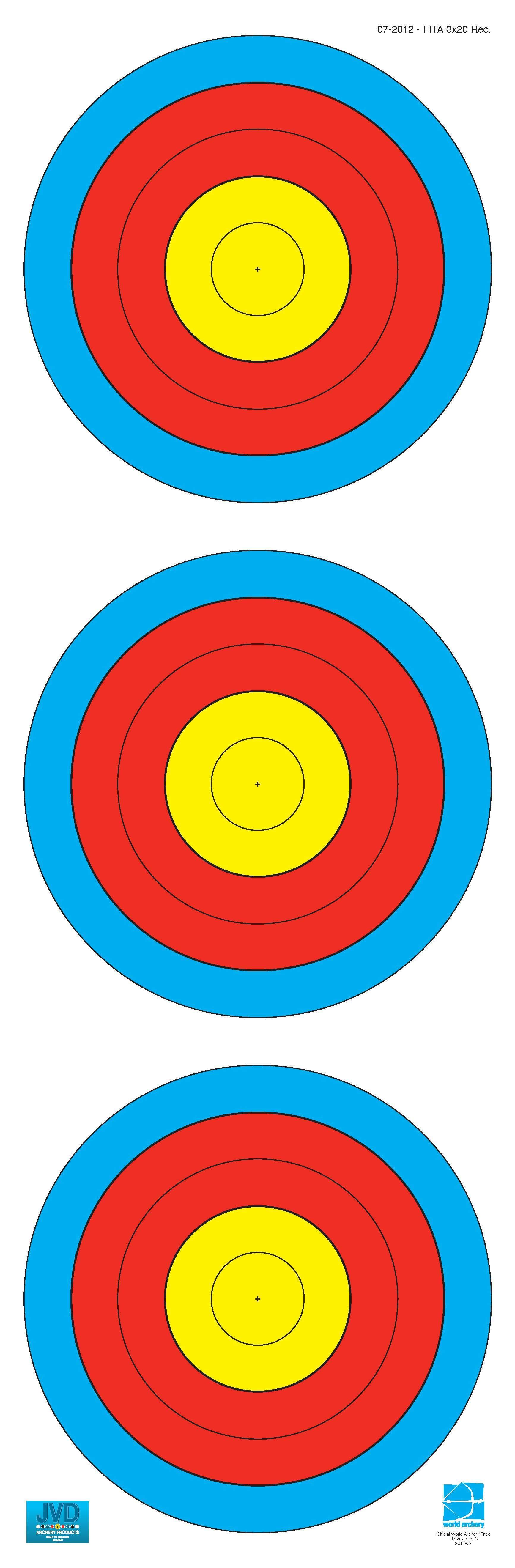 World Archery Federation (WA) - 3x20 Scheibenauflage, Scheibenauflage - est-bogensport.de