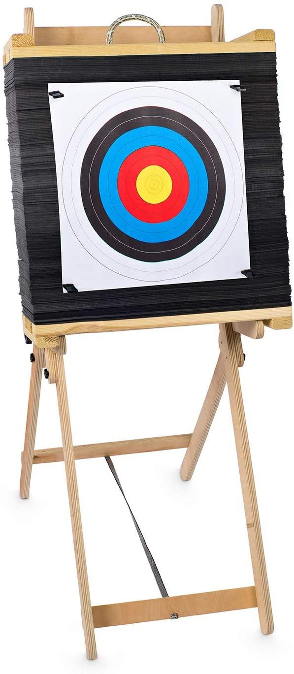 est-Target Scheibe 60 cm mal 60 cm mal 20 cm mit Ständer als Set, Schießscheibe - est-bogensport.de